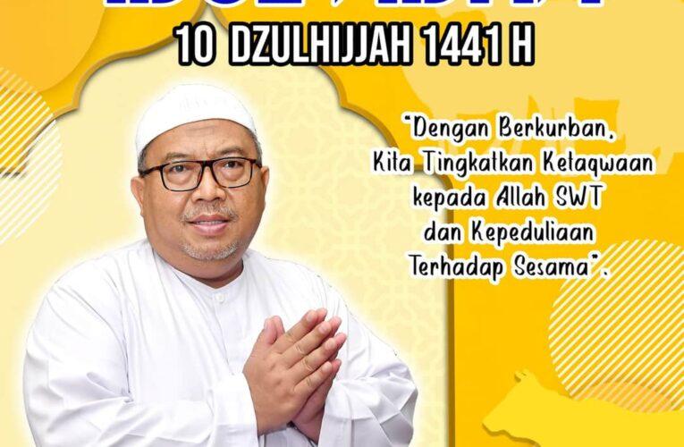Drs. H. Marwan Hamami, MM. ( Bupati Sukabumi ) mengucapkan Selamat Hari Raya Idul Adha 1441 H