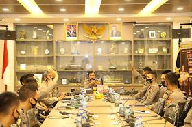 Perwira Remaja Lulusan Akpol 2020 Menerima Pengarahan dari Kabaharkam Polri