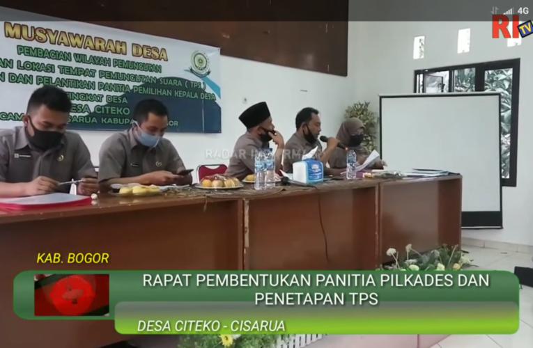 Pembentukan Panitia Pilkades Citeko Berjalan Tertib dan Kondusif
