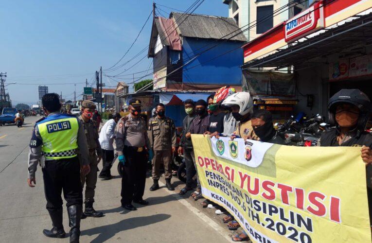 Cegah Penyebaran Covid 19, Polsek Caringin Resort Bogor gelar Operasi Yustisi